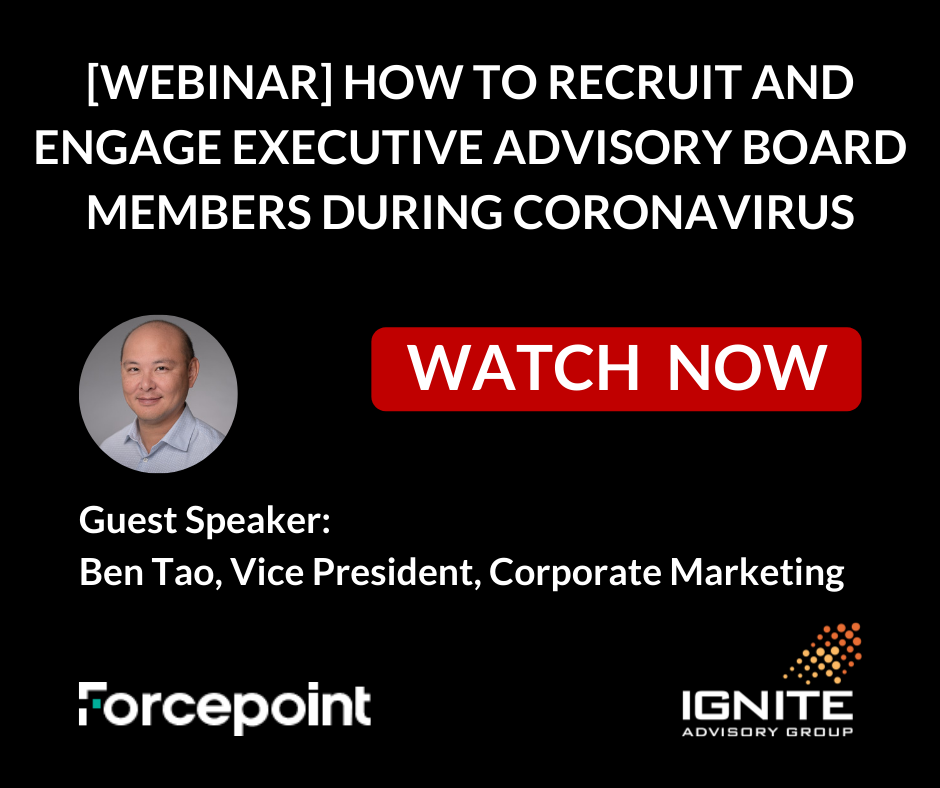 Customer Advisory Board Best Practices from Forcepoint